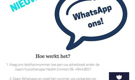 Nieuw! Whatsapp ons!